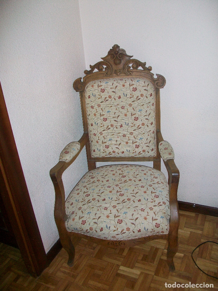 Antigüedades: Tresillo Alfonsino - Foto 4 - 74294235