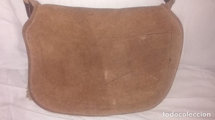Antigüedades: zurrón de piel antiguo original. - Foto 2 - 118054475