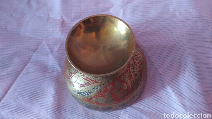 Antigüedades: PRECIOSA COPA TIPO CALIZ DE BRONCE, VER - Foto 5 - 118058266