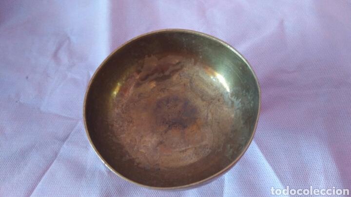 Antigüedades: PRECIOSA COPA TIPO CALIZ DE BRONCE, VER - Foto 7 - 118058266