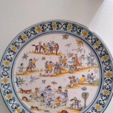 Antigüedades: ALCORA, ESPECTACULAR PLATO. Lote 118060547