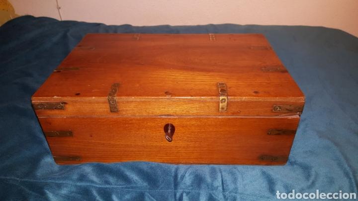 GRAN CAJA-ESCRITORIO DE BARCO (Antigüedades - Muebles Antiguos - Escritorios Antiguos)