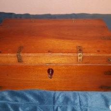 Antigüedades: GRAN CAJA-ESCRITORIO DE BARCO. Lote 118067847