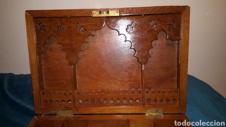 Antigüedades: GRAN CAJA-ESCRITORIO DE BARCO - Foto 4 - 118067847