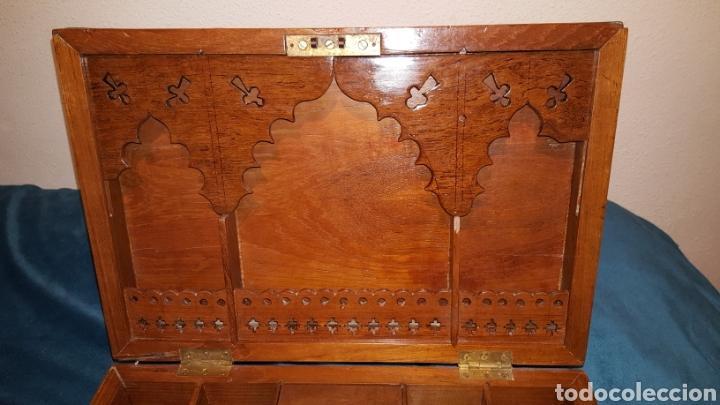 Antigüedades: GRAN CAJA-ESCRITORIO DE BARCO - Foto 5 - 118067847
