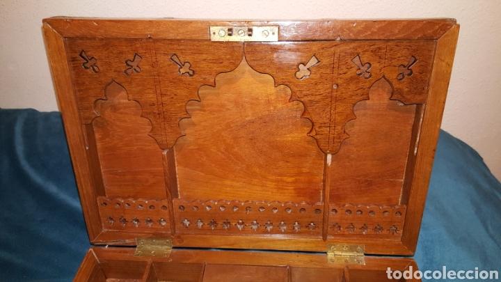 Antigüedades: GRAN CAJA-ESCRITORIO DE BARCO - Foto 6 - 118067847