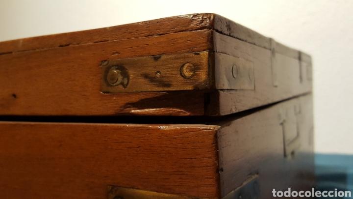 Antigüedades: GRAN CAJA-ESCRITORIO DE BARCO - Foto 17 - 118067847