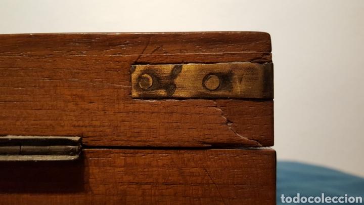 Antigüedades: GRAN CAJA-ESCRITORIO DE BARCO - Foto 22 - 118067847