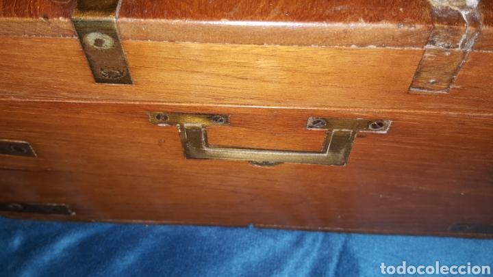 Antigüedades: GRAN CAJA-ESCRITORIO DE BARCO - Foto 25 - 118067847