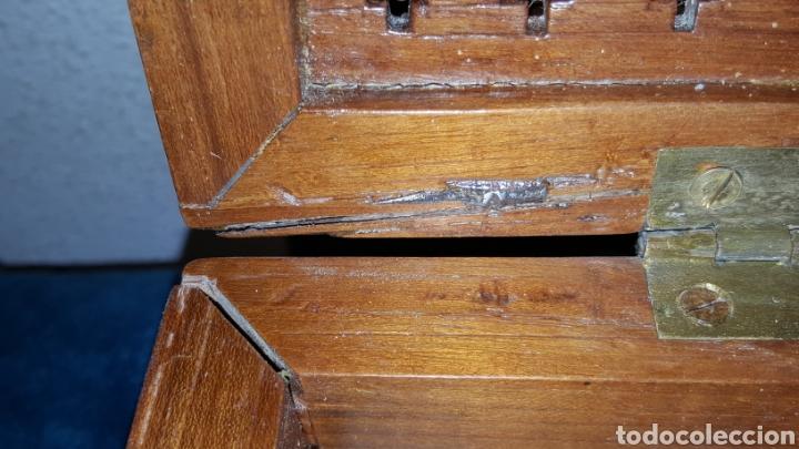 Antigüedades: GRAN CAJA-ESCRITORIO DE BARCO - Foto 28 - 118067847