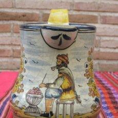 Antigüedades: JARRA VINATERA DE PICO, EN CERAMICA PINTADA, VIDRIADA - CRAQUELADA:. Lote 157221332