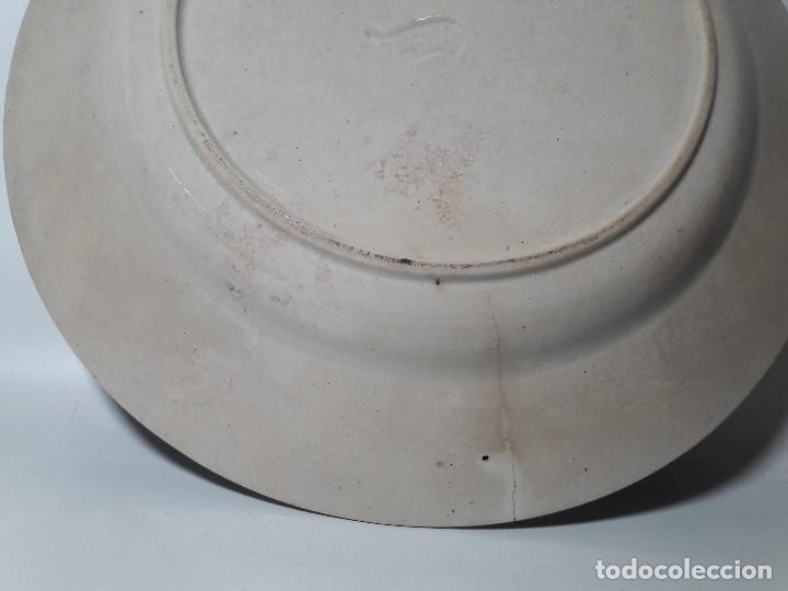 Antigüedades: PLATO CARTAGENA MURCIA FABRICA DE LA AMISTAD, CON SELLO LACRE Y ESTAMPADO, MED. 23,5 CM. - Foto 4 - 118078555