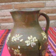 Antigüedades: JARRA ANTIGUA EN CERAMICA VIDRIADA EN VERDE, DE CUERVA ( TOLEDO ). Lote 118078647