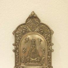 Antigüedades: AGUA BENDITA BENDITERA VIRGEN DE BEGOÑA 33 CM. Lote 118080034