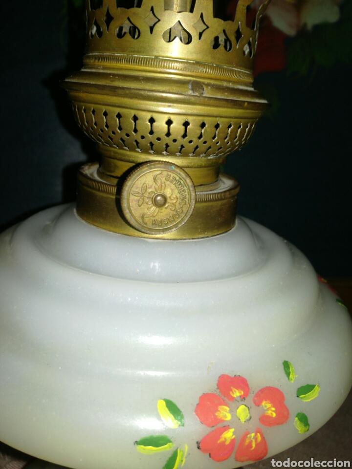 Antigüedades: Antiguo quinqué de opalina - Foto 4 - 118080671