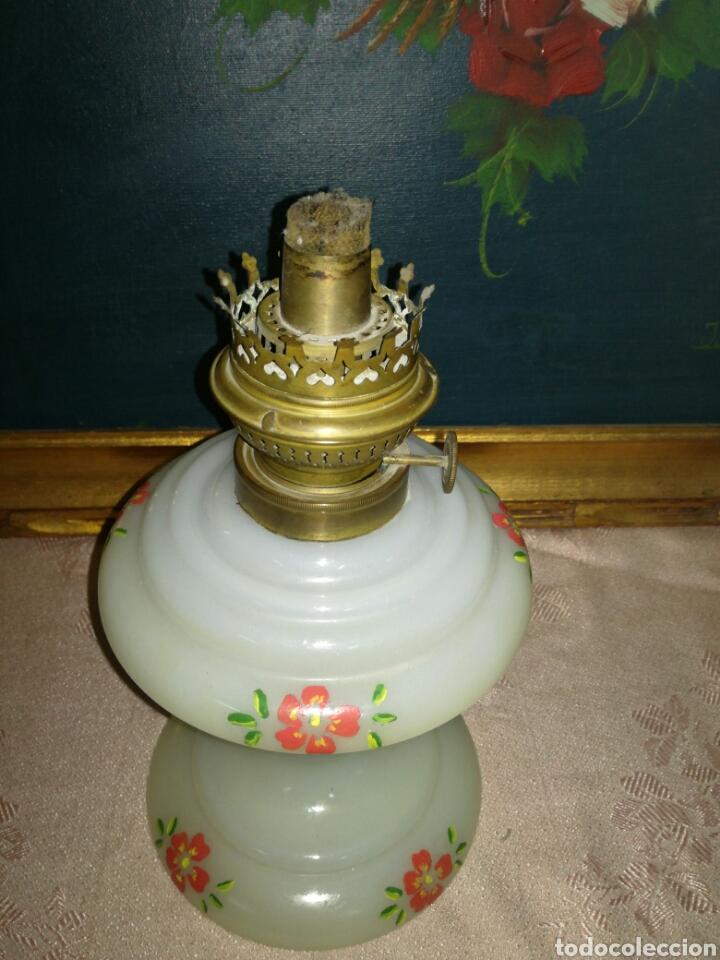 Antigüedades: Antiguo quinqué de opalina - Foto 5 - 118080671