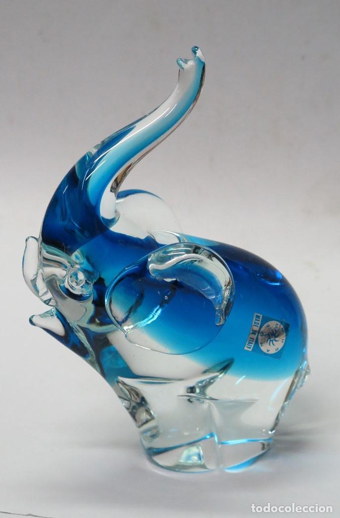 ELEFANTE CRISTAL DE MURANO (Antigüedades - Cristal y Vidrio - Murano)