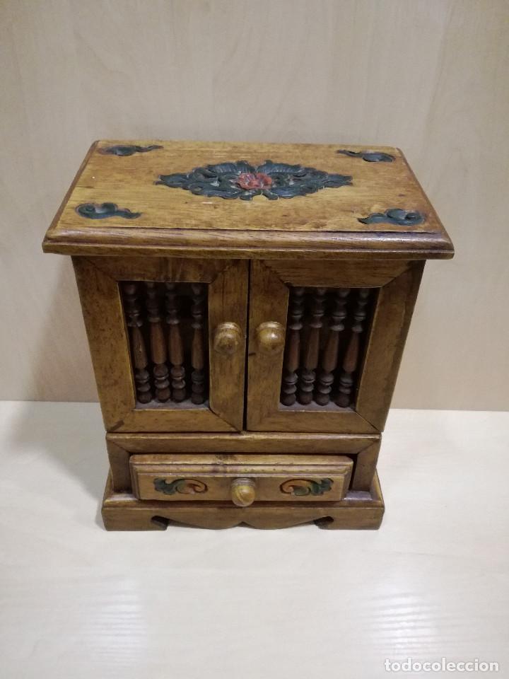 Mueble auxiliar de madera maciza joyero rustic comprar - Mueble rustico colonial ...