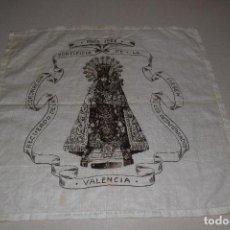 Antigüedades: CORONACIÓN EN 1923 DE LA VIRGEN DE LOS DESAMPARADOS EN ALGODÓN. Lote 118110343