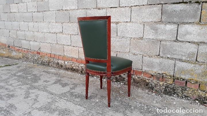 sillería antigua de cuero verde de despacho est - Comprar Sillas ...