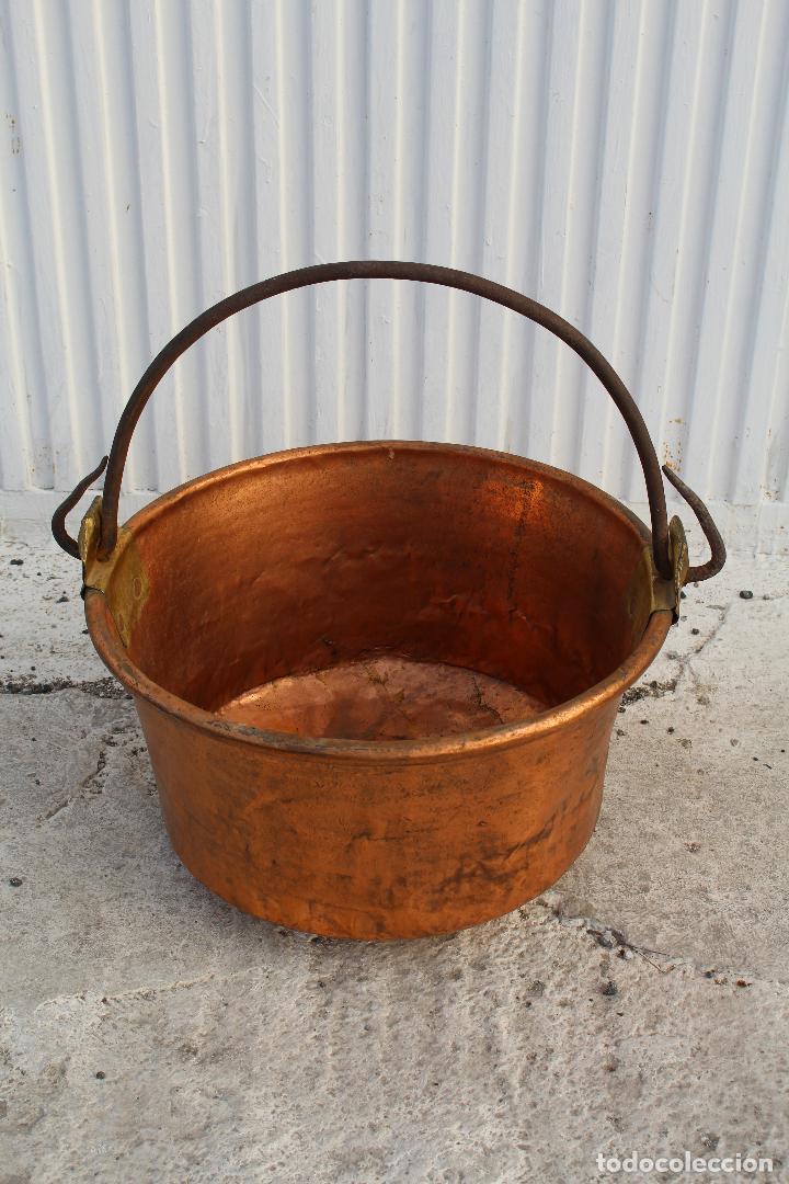 Antigüedades: caldera de cobre con asa de hierro - Foto 5 - 118118303