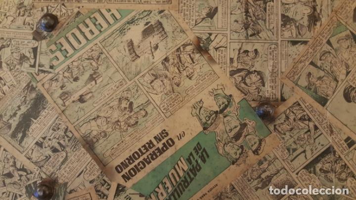 Antigüedades: Preciosa maleta antigua forrada con tebeos antiguos en el exterior e interior, muy especial, ! - Foto 4 - 118130155