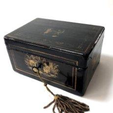 Antigüedades: CAJA DE LACA CHINA PARA EL THE - S. XIX. Lote 118175579