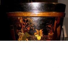 Antigüedades: MUY ANTIGUO MACETERO ORIENTAL DE PAPIER MACHÉ. Lote 255571205