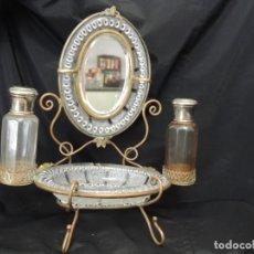 Antigüedades: ESPEJO-ANILLERO-PERFUMERO 1900. Lote 118180663