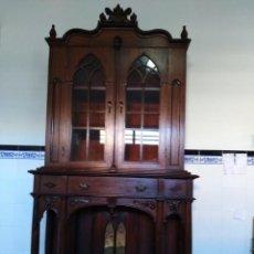 Antigüedades: VITRINA ANTIGUA ESTILO INGLÉS DE PALOSANTO. Lote 118188407