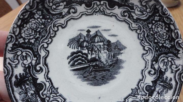 Antigüedades: ANTIGUO CONJUNTO DE TAZA Y PLATO.PICKMAN S.A SEVILLA.CARTUJA.AÑOS 20.30 - Foto 8 - 118190235