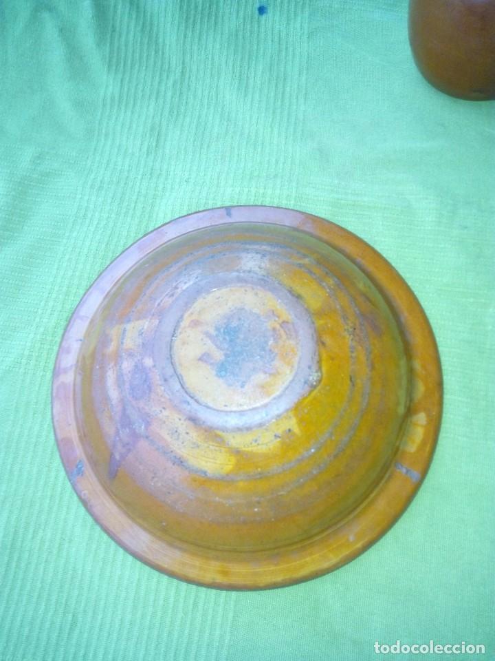 Antigüedades: ANTIGUO PLATO Y JARRA DE CERAMICA LA BISBAL - Foto 3 - 118197743