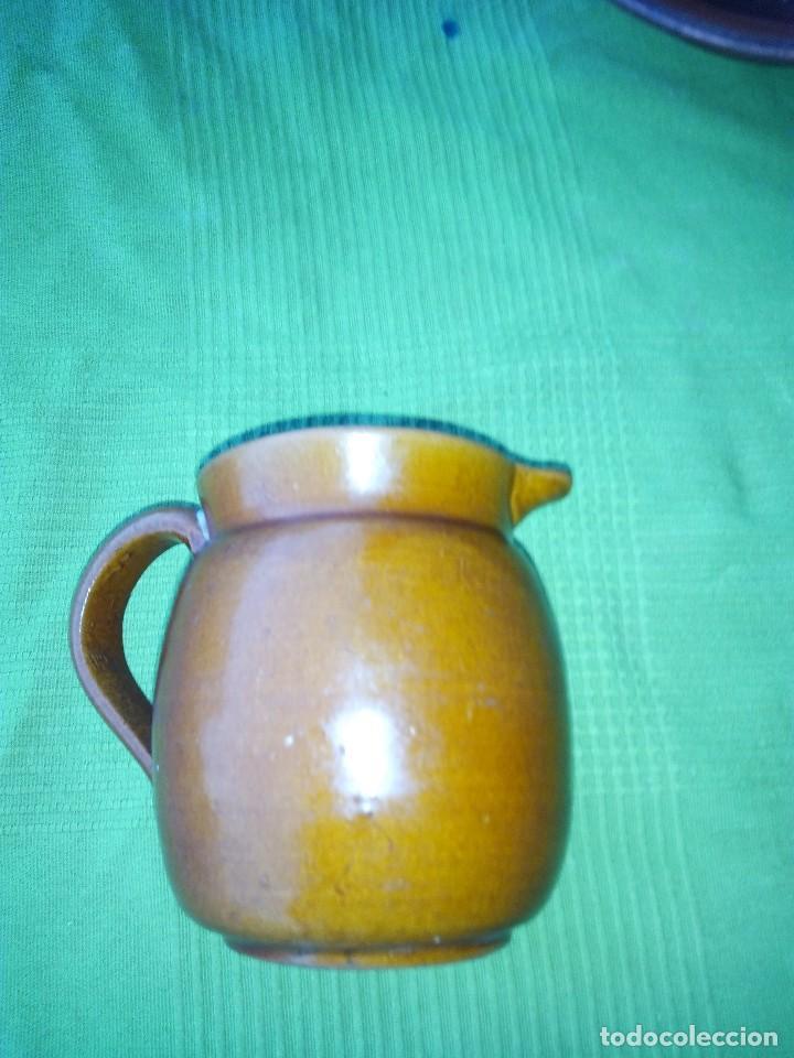 Antigüedades: ANTIGUO PLATO Y JARRA DE CERAMICA LA BISBAL - Foto 4 - 118197743