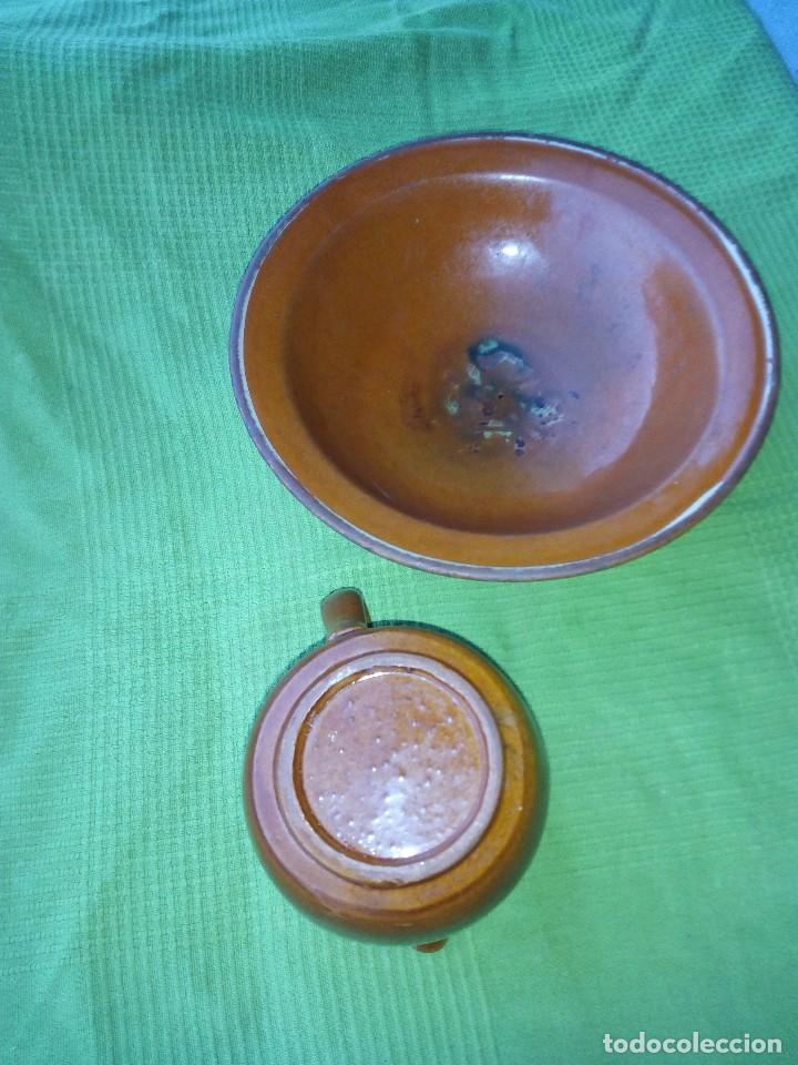 Antigüedades: ANTIGUO PLATO Y JARRA DE CERAMICA LA BISBAL - Foto 6 - 118197743