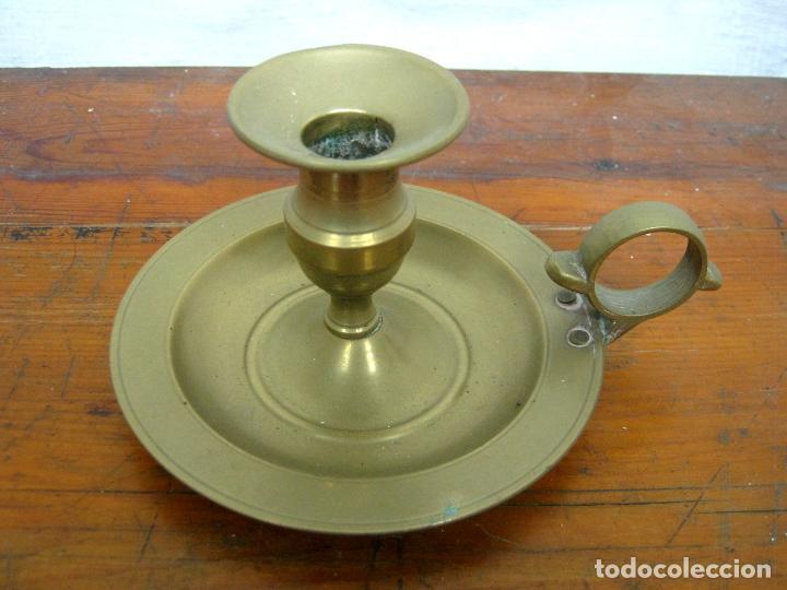 Antigüedades: palmatoria candelabro para vela - Foto 2 - 118201099