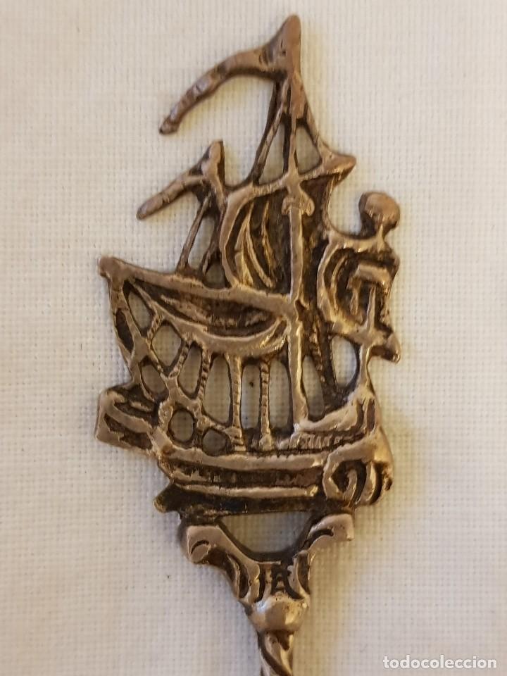 Antigüedades: Tenedor y cucharilla de plata 800 mm. Recuerdo o souvenir antiguo. - Foto 3 - 118212811