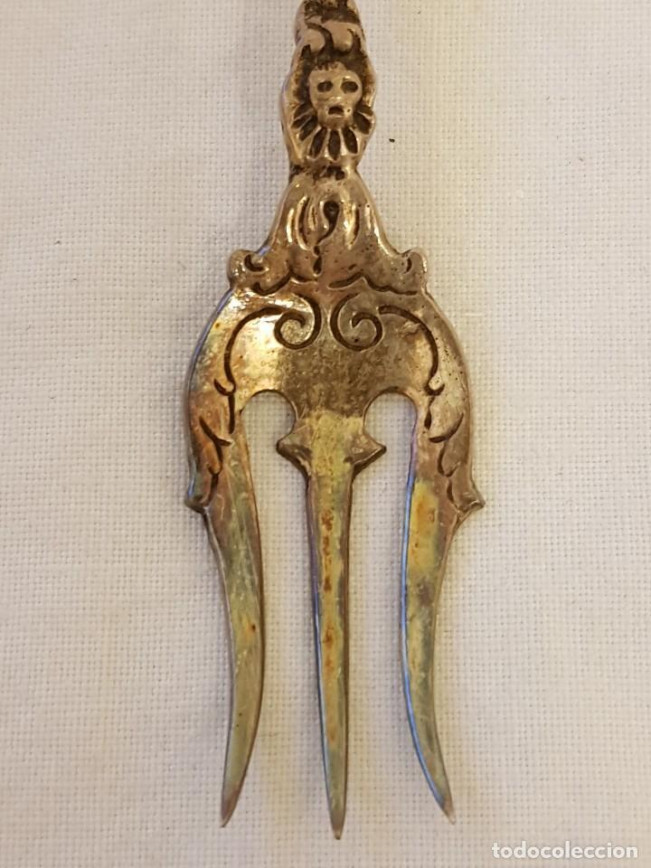 Antigüedades: Tenedor y cucharilla de plata 800 mm. Recuerdo o souvenir antiguo. - Foto 6 - 118212811