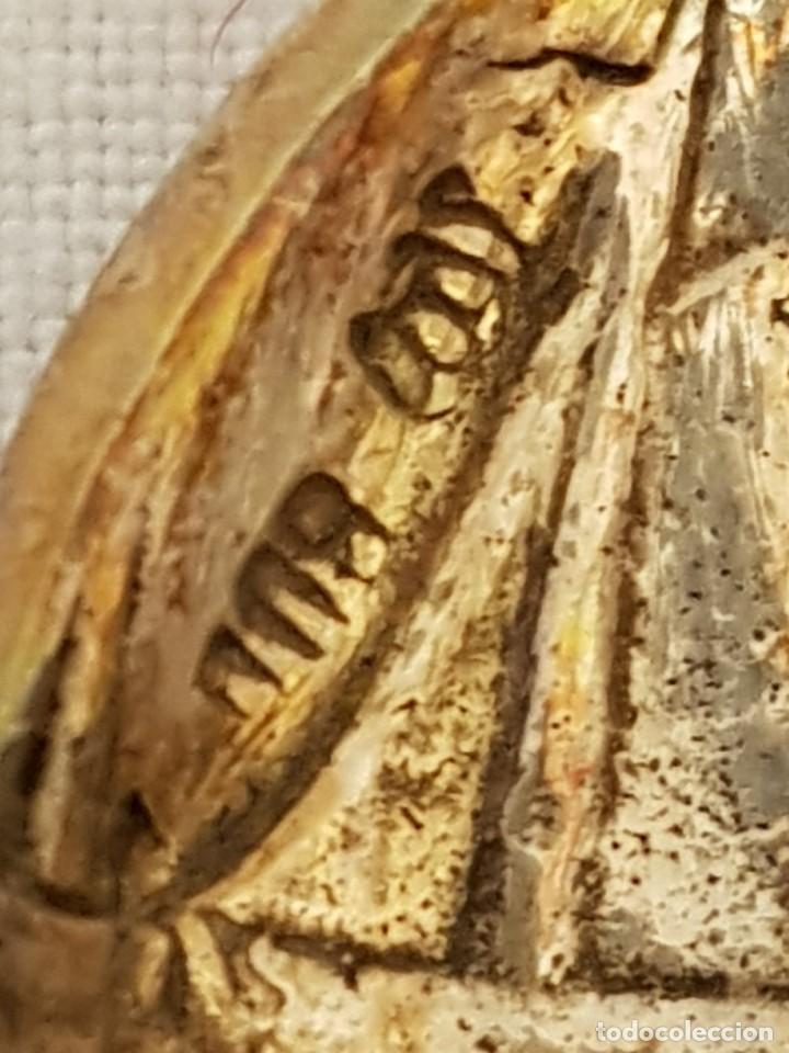 Antigüedades: Tenedor y cucharilla de plata 800 mm. Recuerdo o souvenir antiguo. - Foto 9 - 118212811