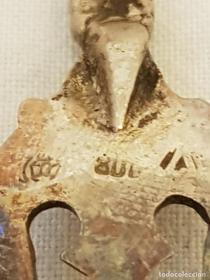 Antigüedades: Tenedor y cucharilla de plata 800 mm. Recuerdo o souvenir antiguo. - Foto 10 - 118212811