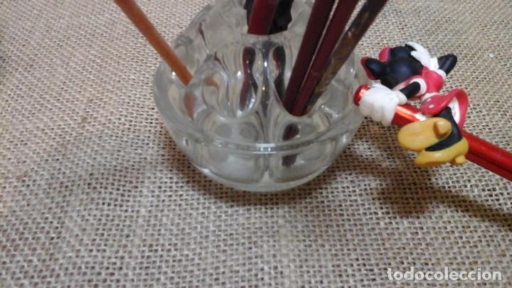 Antigüedades: Pareja de lapiceros antiguos en cristal francés , marcados . Ppios siglo xx . - Foto 4 - 118218403