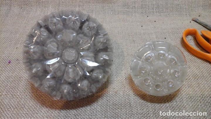 Antigüedades: Pareja de lapiceros antiguos en cristal francés , marcados . Ppios siglo xx . - Foto 5 - 118218403