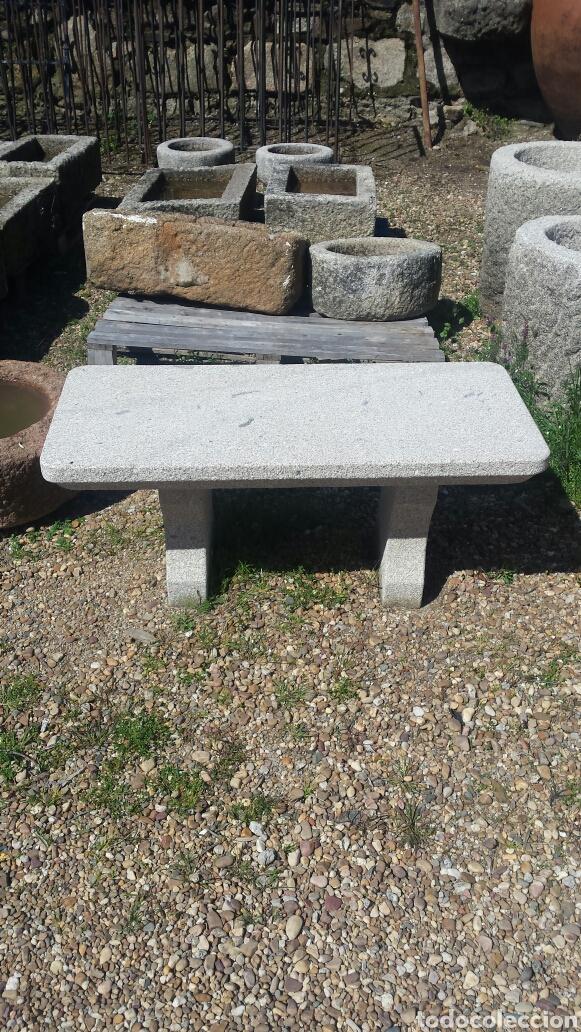 Antigüedades: banco piedra de granito pecho de paloma. varios. - Foto 3 - 118244674