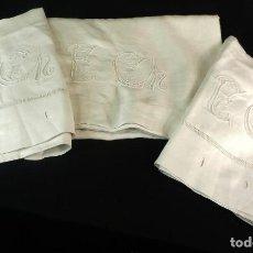 Antigüedades: T7-8 SÁBANA ANTIGUA DE ALGODÓN GRUESO PPS S XX. Lote 118248563