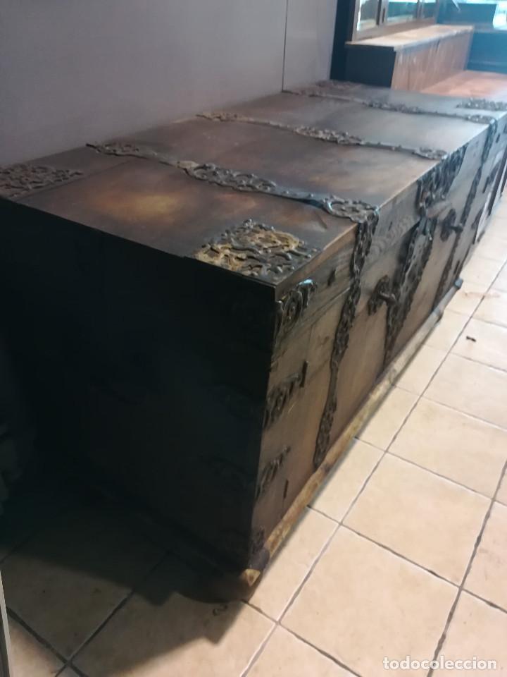 Antigüedades: ARCON DE ROBLE ALEMAN, FINALES DEL SIGLO XVII O PRINCIPIOS DEL XVIII - Foto 2 - 118251151