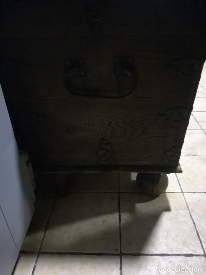 Antigüedades: ARCON DE ROBLE ALEMAN, FINALES DEL SIGLO XVII O PRINCIPIOS DEL XVIII - Foto 8 - 118251151