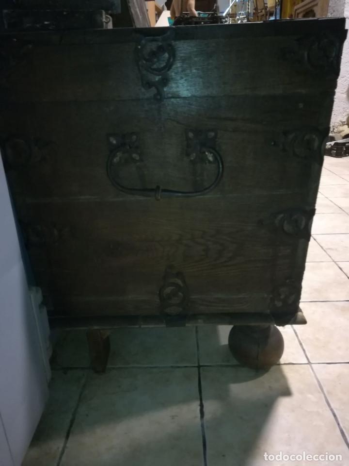 Antigüedades: ARCON DE ROBLE ALEMAN, FINALES DEL SIGLO XVII O PRINCIPIOS DEL XVIII - Foto 9 - 118251151