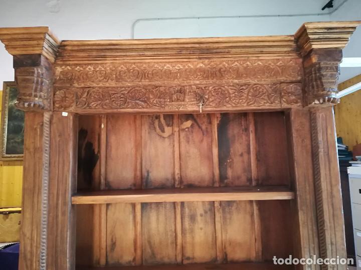 Antigüedades: ESTANTERIA ANTIGUA DE ORIGEN INDIO - Foto 2 - 118256263