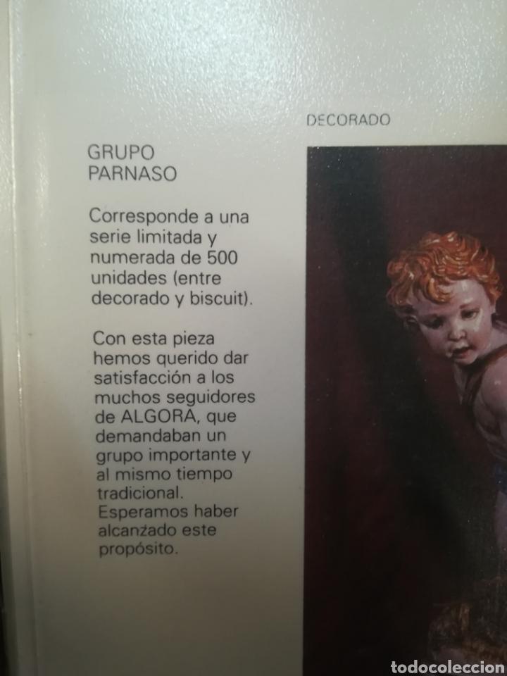 Antigüedades: Grupo Parnaso porcelana algora con certificado - Foto 11 - 118256474