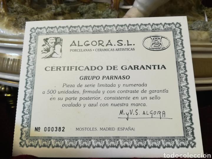 Antigüedades: Grupo Parnaso porcelana algora con certificado - Foto 16 - 118256474