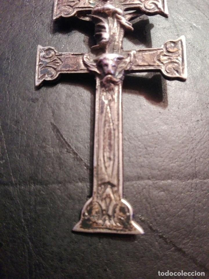 Antigüedades: Preciosa gran Cruz de Caravaca en plata, labrada muy antigua - Foto 3 - 118268275